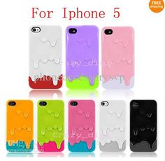 Wholesale New 3D Melt ice Cream Melting Skin Hard case For iPhone 5 5S, Free shipping, $2.61/Piece | DHgate Mobile