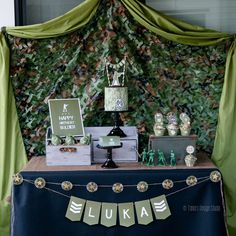Check out this army military birthday party! See more party ideas at CatchMyParty.com!