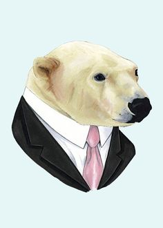 'Cause every girl's crazy about a sharp dressed......umm....polar bear.