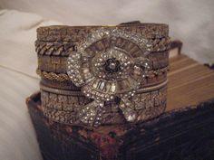 scrap bracelets onto another bracelet.......by charlotte perez
