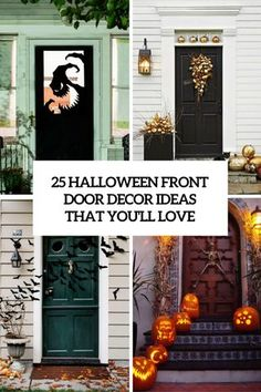 halloween pinterest pumpkins and black - Halloween Front Doors