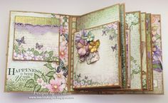 Designs by Marisa: Heartfelt Creations - Flip Fold Album Scrapbook Journal, Mini Scrapbook Albums, Journal Cards, Scrapbook Cards, Junk Journal, Journal Ideas, Book Making, Card Making, Memory Album