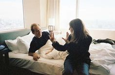 Bill Murray and Sofia Coppola on the set of Lost in Translation