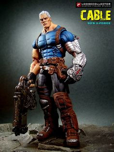 Cable : Style (Marvel Legends) Custom Action Figure by loosecollector Comic Book Characters, Marvel Characters, Marvel Heroes, Marvel Dc, Comic Books, Cable Marvel, Zbrush, Statues, Custom Action Figures