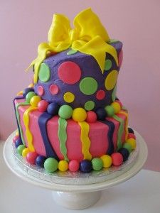 It's all about funky cakes now!