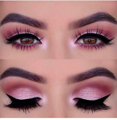 Pageant and Prom Makeup Inspiration. Find more beautiful makeup looks with Pagea… Pageant and Prom Makeup Inspiration. Find more beautiful makeup looks with Pageant Planet. Prom Eye Makeup, Pageant Makeup, Makeup Eye Looks, Eye Makeup Steps, Natural Eye Makeup, Pink Makeup, Makeup For Brown Eyes, Smokey Eye Makeup, Cute Makeup