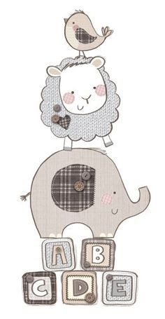 24 Ideas For Children Illustration Pencil Picture Books Animal Drawings, Cute Drawings, Sarah Ward, Applique Patterns, Cute Illustration, Baby Elephant, Baby Cards, Nursery Art, Baby Quilts