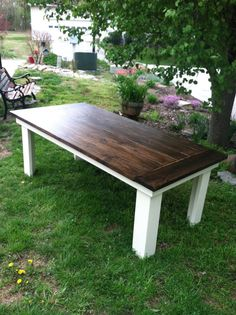 Country Farmhouse Kitchen Table by AKcustomFurniture on Etsy, $550.00