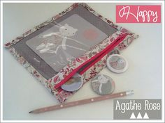 9-Happy_Agathe Rose-3 Rose, Lunch Box, Happy, Angel, Decor, Scrappy Quilts, Sachets, Fabric Scraps, Creative Crafts