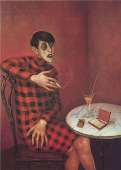 Otto Dix - portrait monocle plaid kabarett