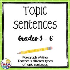 This Conclusions Packet contains 12 pages of worksheets and detailed Teacher Notes to help your students craft better conclusion sentences, which will help improve paragraph and essay writing. Paragraph Writing Topics, Topic Sentences, Opinion Writing, Kids Writing, Blog Writing, Essay Writing, Writing Ideas, Teaching Kids To Write, Teaching Writing