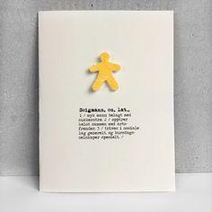Bursdagskort med håndlaget seigmann og en humoristisk ordbok-definisjon passer til bursdagsbarn i alle aldre.