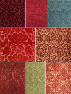 History of Surface Design: Damask You might be forgiven these days if you think of damask as a type of pattern, featuring elaborately scrolled motifs arranged in a lozenged grid. And certainly, those designs are quite common amongst true damasks. However, real damask is actually a type of fabric which uses a variety of weaving techniques (most commonly satin and twill variants) to create areas of different sheen in the cloth. Learn more about the origins of this popular pattern in s...