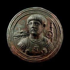 Roman bronze phalera (1st century CE) with an bust of Emperor Nero in very high relief. Phaleras were medaillons worn as badges on military uniforms and were issued to promote a sense of identity within the army and of loyalty to the emperor