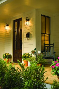 Looking for lighting ideas for your porch? Check out this post for 30 trending and vintage porch lighting ideas and designs for Porch Lighting, Outdoor Lighting, Lighting Ideas, Lighting Design, Porch Lamp, Vintage Porch, Home Porch, Decks And Porches, Front Porches