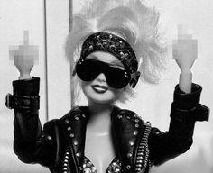 80s glamrock Barbie LOL!  #funny #barbie #80s #rock #badgirl