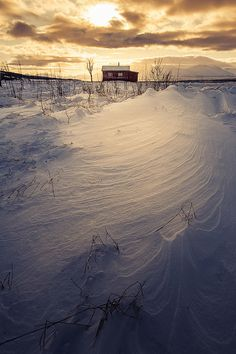 Small barn in winter, #Norway picture my now 9 yr old child here alone for 736 days. Looks the same 2 me