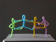 """PIPE CLEANER ANIMATION~ Four chenille craft sticks dance to the music of Donovan's """"Mellow Yellow."""" Clever and fun! Promoted by Art Ed Cental"""