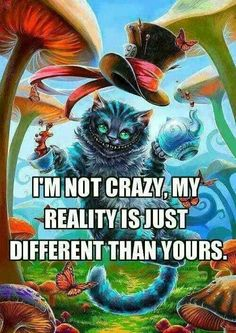 Alice In Wonderland quote Crazy Quotes, Love Quotes, Funny Quotes, Inspirational Quotes, Humor Quotes, Qoutes, Memes Humor, Depressing Quotes, Funny Humor
