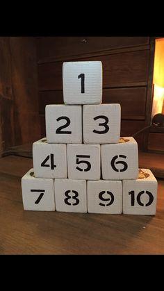 Klossar med siffror