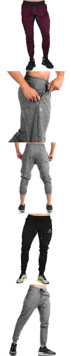 2017 Men's AthleticPants Workout Cloth Sporting Active Cotton Pants Men Jogger Pants Sweatpants Bottom Legging M-XXL