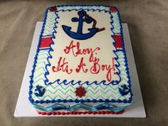 Superb Baby Boy Nautical Shower Sheet Cakes   Google Search