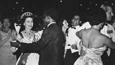 The Queen danced gaily with Ghana's president in seemingly unaware that their dance was a symbolic moment in the history of the Commonwealth.Elizabeth II is pictured beaming on the dancefloor Black History Books, African Royalty, Prince Phillip, British Monarchy, Save The Queen, Queen Elizabeth Ii, Commonwealth, British Royals, Ghana