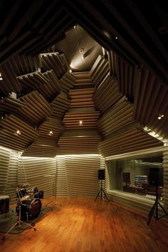 Sound Studio with Chiaki Arai Urban & Architecture Design, Kadare Cultural Centre, Yurihonjo City, Japan Home Studio Musik, Music Studio Room, Sound Studio, Music Recording Studio, Recording Studio Design, Music Production Studio, Deco Studio, Studio Setup, Studio Ideas