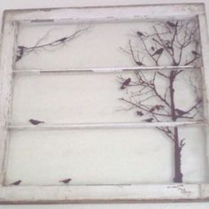 I want to do something like this with the old window we found in our basement. It would go above the kitchen sink where I wish there really was a window.