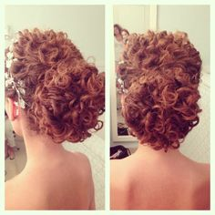 Hair Updos Curly Makeup 58 Ideas - All For New Hairstyles Curly Hair Updo Wedding, Short Curly Hair, Wedding Hair And Makeup, Prom Hair, Curly Hair Styles, Natural Hair Styles, Hair Makeup, Curly Up Do, Updo Curly