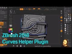 (97) ZBrush 2018 Controlling Curves - Curves Helper - YouTube