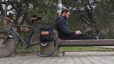Loving being a #nomadworker this week. laptop  bicycle. It's like an office on wheels. #cycletouring #velovoyagers