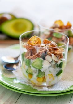 Avocados and mangoes make a sweet parfait in this breakfast staple. Mmhm.