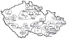 Folklorní regiony Čech, Moravy a Slezka. - 1. Kozácko, 2. Blata, 3. Doudleby, 4. Prácheňsko, 5. Chodsko, 6. Plzeňsko,  7. Stříbrsko, 8. Plasko, 9. Karlovarsko, 10. Střední Čechy, 11. Polabí, 12. Boleslavsko, 13. Podještědí, 14.  13. Podještědí, 14. Podkrkonoší  15. Náchodsko, 16. Hradecko, 17. Litomyšlsko,18. Horácko, 19. Podhorácko, 20. Brněnsko, 21. Haná, 22. Slezsko, 23. Lašsko, 24. Valašsko, 25. Moravské Slovácko  a/Kyjovsko * b/Dolňácko * c/Horňácko  d/Podluží * e/L Prague Czech, Bobbin Lace, Ancestry, Beautiful Patterns, Pattern Art, Czech Republic, Family History, Folk Art, Old Things