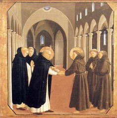 Fra Angelico, The Meeting of St. Dominic and St. Francis of Assisi, c. 1434 - 1435