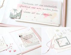 Zur Hochzeit einer lieben Freundin, die auch diese Karte bekommen hat, ist   ein kleines Leporello entstanden. Die Idee für ein Hochzeits...