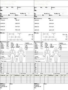 Icu nurse report sheet template nurse pinterest for Icu note template