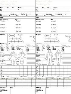 Free Customizable, Editable Nurse Brain Sheets – ChecklistRN ...