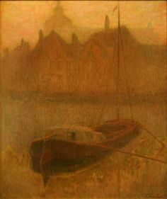 Boat on the Canal (Morning), 1900, Henri Le Sidaner