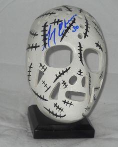 Gerry Cheevers mask... Goalie Mask, Hockey, Masks, Skull, Mini, Sports, Vintage, Ebay, Hs Sports