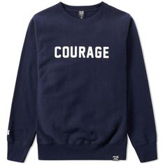FPAR Courage Crew Sweat (1.981.395 IDR) ❤ liked on Polyvore featuring men's fashion, men's clothing, men's hoodies and men's sweatshirts