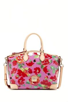Rose Garden Plastic Satchel By Dooney Bourke Casual Chic Style Vintage Bags