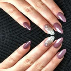 fall 2016 nail almond shape shellac