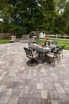 From The Ultrabelle Collection, Brandywine Slate Stone Patio.