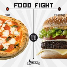 Pizza vs Hamburger