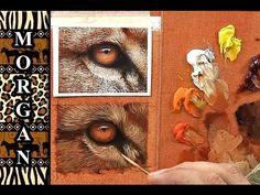How to Paint Animal Eyes Demo / tutorial - wildlife art - Jason Morgan