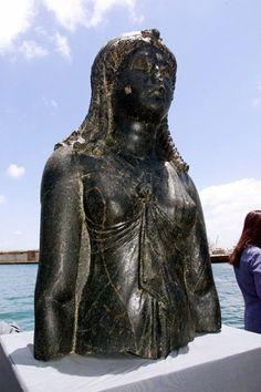 Cleopatra,  basalt - Stunning Underwater Photos Reveal Secrets Of Legendary Lost City Of Heracleion -