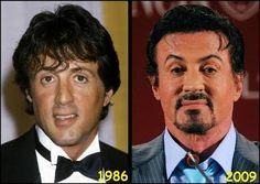 Sylvester Stallone....has those tell tale high/higher eyebrows.