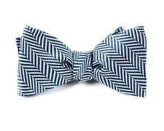 NATIVE HERRINGBONE BOW TIES - NAVY | Ties, Bow Ties, and Pocket Squares | The Tie Bar