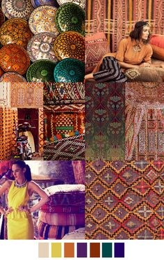 road-to-marrakech-There are a lot of collages for the Autumn/Winter ' 16 from Patterncurator. So you can find them in different pages. Colour Schemes, Color Trends, Color Patterns, Color Combos, Design Trends, 2016 Fashion Trends, 2016 Trends, Fashion Colours, Colorful Fashion
